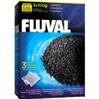 Fluval Carbon 300g 3 x 100g in net bag for aquariums Fish Tank Filter Media